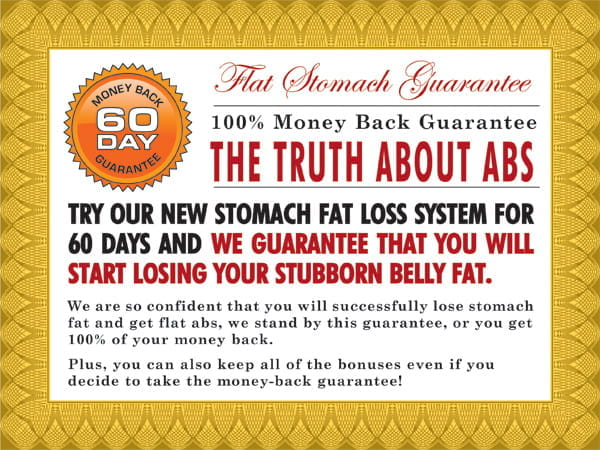 TruthAboutAbs Guarantee Certificate