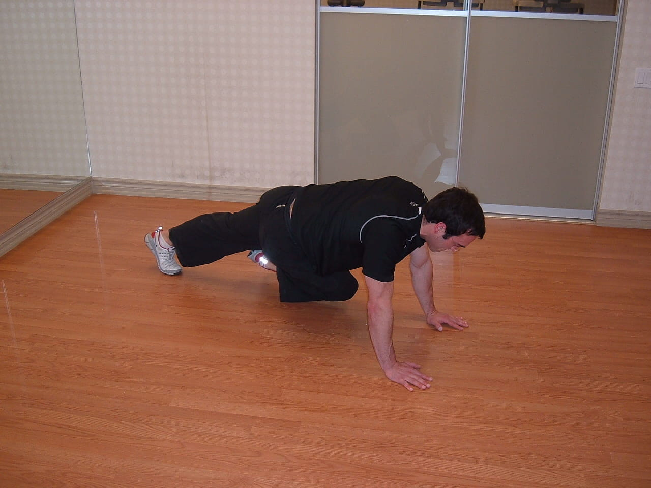 CB mountain climbers - great ab exercise
