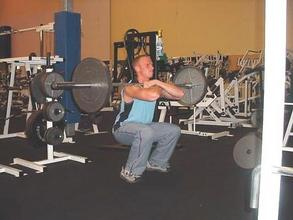 front squats - surprisingly good abdominal exercise