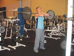front squats start position for rock hard abs