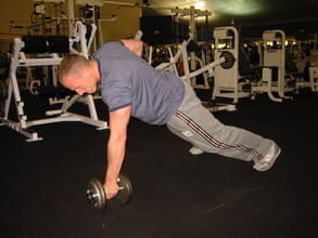 renegade rows - great ab & core exercise