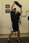 midpoint - sandbag transmit lunges